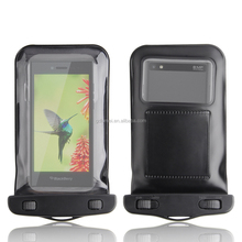 universal waterproof Dirtproof PVC Case Bag with neck strap clear transparent back window for iPhone 6 5S/ Samsung S6, etc