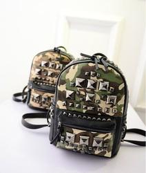 Fashion korean tough PU leather brand bag for fashion ladies backpack