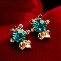 Min.order is $10 (mix order)Free Shipping Wholesale 2013 New 3 Colors Fashion Lovely vintage cross earrings#61