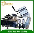 Larga vida útil bajo consumo de energía larga vida útil delgado, ac/dc xenon kit ocultado 55w philips