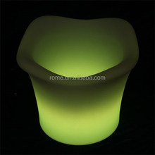 Multi Color Change LED Plastic Bar Ice Bucket With remote