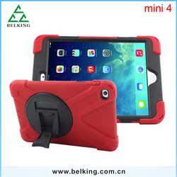 Laptop Tablet Housing PC+Silicon Anti-shock Case For iPad Mini 4 Plastic Case