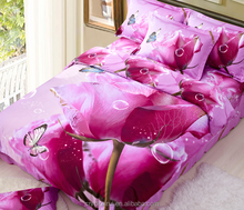 100% Polyester printed 3d bed cover set with high popular