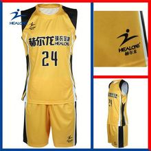 Healong Sublimation Discount Player Shortsleeve Basketball Suit