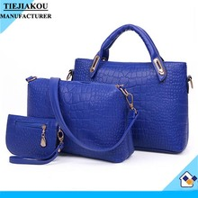 2015 China newest exported Fashional designer shoulder bags set For women Fashion Custom Wholesale