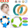 bpa free 100% food grade baby chewing and teething silicone bracelets for kids