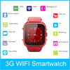 """Genuine leather watch band 1.54"""" stainless steel case 300w camera GPS GSM smart watch"""
