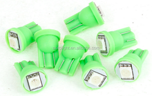 RV LED Light interior lamp 12V DC T10 194 168 W5W Green 5050 1-SMD LED Dashboard car Light Bulbs