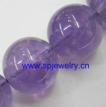light purple gemstone, round 4-16mm,16-inch per strand, fashion beads
