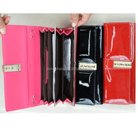 ladies fashion patent PU purse, new design hot sale ladies wallet(WT-150417002)