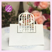 Wine card wedding party table card hot sale place card ZK-63 Haoze brand bird cage style