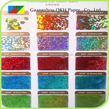 Multi-color and customized sizes colored glitter