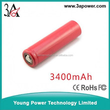 high capacity sanyo 18650 3400mah 3.7v li-ion battery cells lithium battery