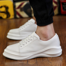 high quality white casual shoes fashion brand china factory, adults lace up casual leather shoes sneakers sample for men women