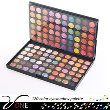 120 color natural decorative cosmetic eyeshadow palette,metal color eye shadow