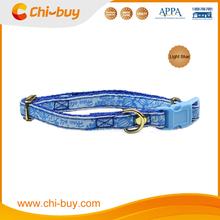Adjustable Neck Size 20~30cm Sea Turtle Printing Nylon Pet Dog Collar Blue Color, Free Shipping on 49usd order