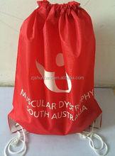 2015 cheap non woven shopping bag/ 190t polyester waterproof drawstring bag/ useful embossing nylon non woven shopping bags