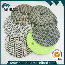 4inch dry polishing pads for concrete/marble