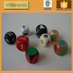 Wholesale Colorful Wooden Custom Dice,Wooden Dice (YZ-WD1002014)
