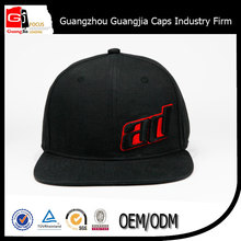 fashion cheap OEM yupoong all black custom AD 3D embroidery snapback cap and hats