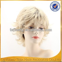 New fashion rooted blonde ombre kanekalon synthetic hair wig for white women