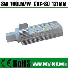High Quality 6w led light pl lamp plug light save energy 110v