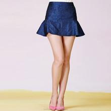 Latest fashion designed pretty blue ladies chiffon skirt