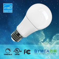 60W Equivalent 2700K estar 600 lumen dimmable led Light Bulb