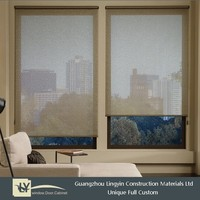 Popular cheap house design aluminum small sliding windows with electric tint for sale .
