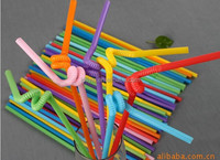 novelty/large/colorful plastic drinking straws