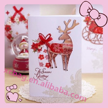 2015 3D Cartoon handmade christmas cards/christmas tree with competitive price
