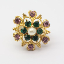 Make fashion jewelry rings ancient style rings shiny diamond pearl rings