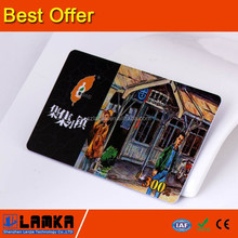 Pvc con CMYK impresión de compras cash card