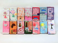Cute Flower PU Wallet Leather Skin Pouch Cover For Apple iphone 5 5G 5S
