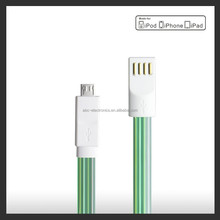 Transparent micro usb cable 3ft/6ft/10ft optional