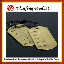 Wholesale Custom Stainless Steel Embossed Military Dog Tags Pet tag manufacture in china