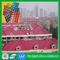 soundproof color coated uv resistant plastic ridge tiles made in China