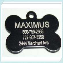 "Black Bone Shape Pet Tags Ships Within 24 Hours Enter Tag Details in ""Gift Message Area At Checkout"""