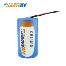 Primary CR34615 3 volt Li-Mn 12000mAh Discharge Cylindrical Battery With Lead Wire