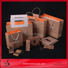 2016 newest brown kraft paper bags wholesale with your own logo