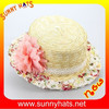 girls boater hat flattop boater hat fashion summer straw boater hat