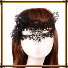 The new interest club bar lace up half a face mask Hollow out critical joker masks