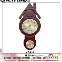 Newest Wooden Weather Station Barometer Decor YG416