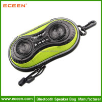 Bicycle Speaker Case with Hands-Free Speaker phone Calls and Rechargeable 4,000mAh Power Bank Charge For iPods, Cell Phones, A