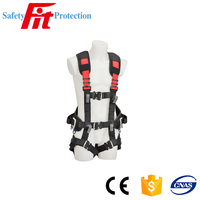 Climbing fall arrest retractable full body safety harness