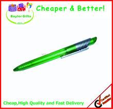 Factory price transparent barrel promotional plastic logo pen silver barrel clip promotional plastic logo pen
