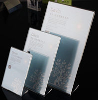 modern acrylic table menu stand table display table top sign holders model FX-YKLP-FX-YKLP-1811