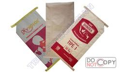 kraft valve bags of 50kg papel, brown kraft paper bags cement