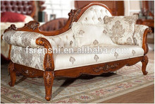 antique solid wood bed end sofa loveseat chaise G010#