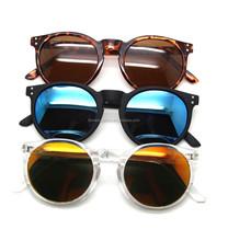 round fashion sunglasses circle vintage mirror sunglasses
